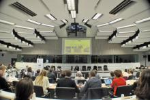 The conference in the meeting room of the EU Committee of the Region